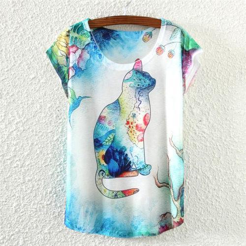 Camiseta gato colores