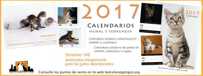 Calendario Solidario Gatuno para el 2017
