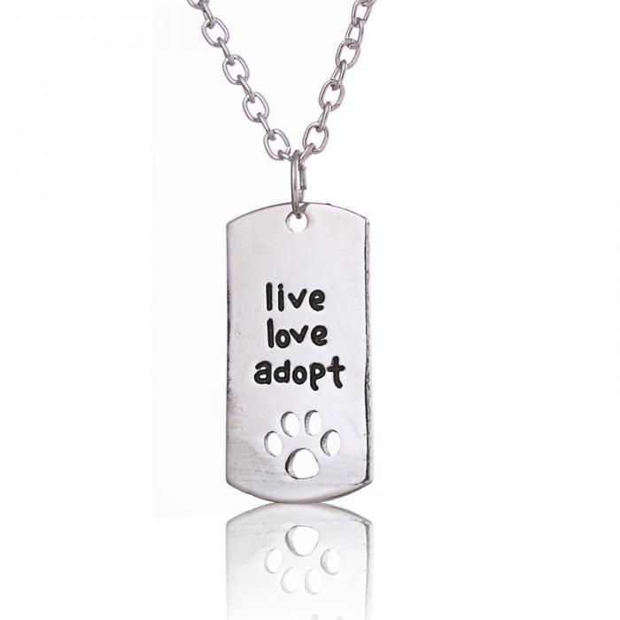 Collar Live, love, adopt
