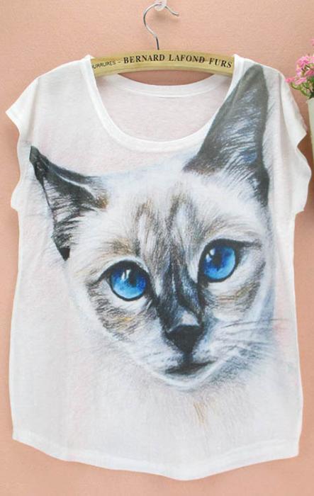 Camiseta gato siamés 1