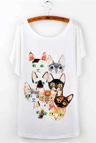 Camiseta cat faces