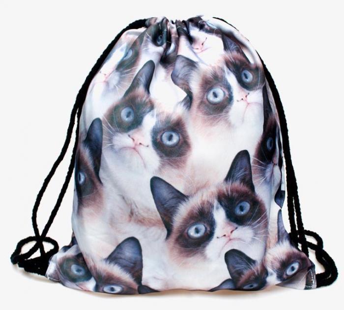 Mochila bolsa Grumpy Cat