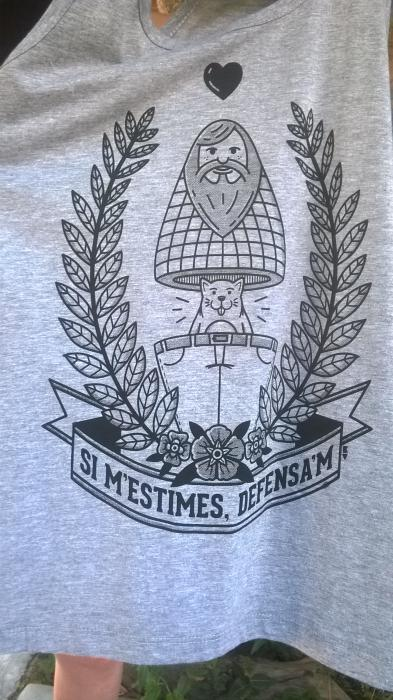 Camiseta Si m'estimas, defensa'm
